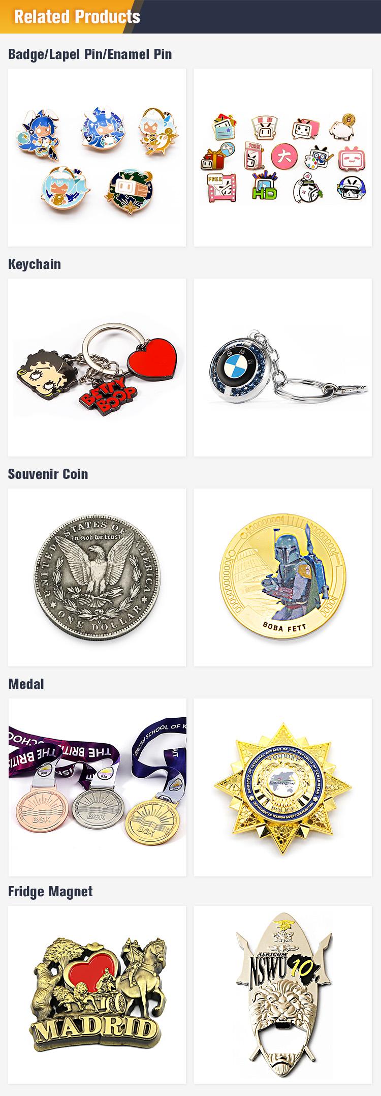 Custom 3D Cheap Miraculous Gold Plating Souvenir Medal Badge