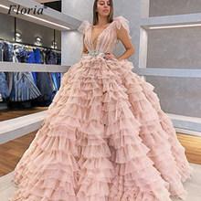 Женское вечернее платье с красной ковровой дорожкой, длинное розовое платье знаменитости с кристаллами, 2020(Китай)