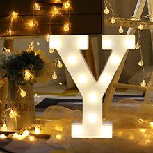 Светодиодный светильник с буквами и алфавитом, романтическая свадебная стоящая лампа с буквами, светильник s, белый пластиковый светильник ...(Китай)