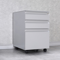 Pedestal 3-Drawer Mobile Vertical Filing Cabinet