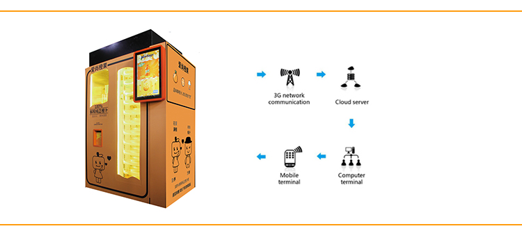 New hot selling shopping mall self service  orange juice vending machine with discount