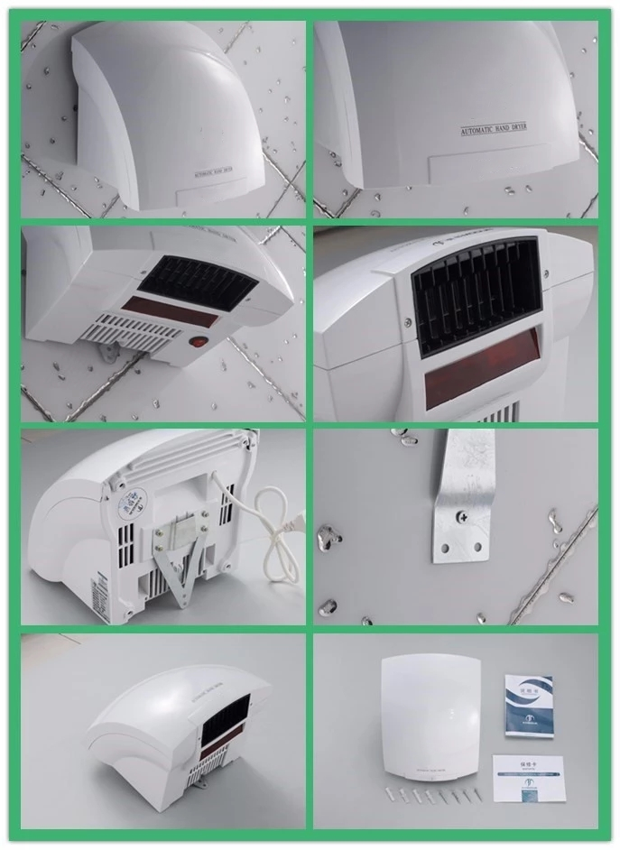 China factory cheap price plastic commercial electronic infrared sensor warm and cold air Hand Dryer Automatic