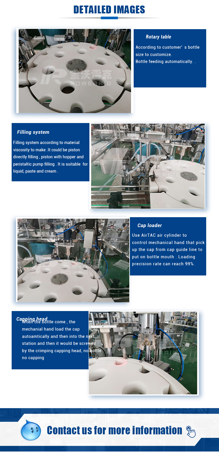 High Accuracy Oral Solution Liquid Small Bottle Filling and Plugging Machine