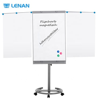 Hot sale office and school multi-function flip chart white board magnetic drawing white board stand easel