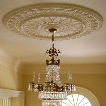 Gypsum Round Ceiling Rose Lamp Disk