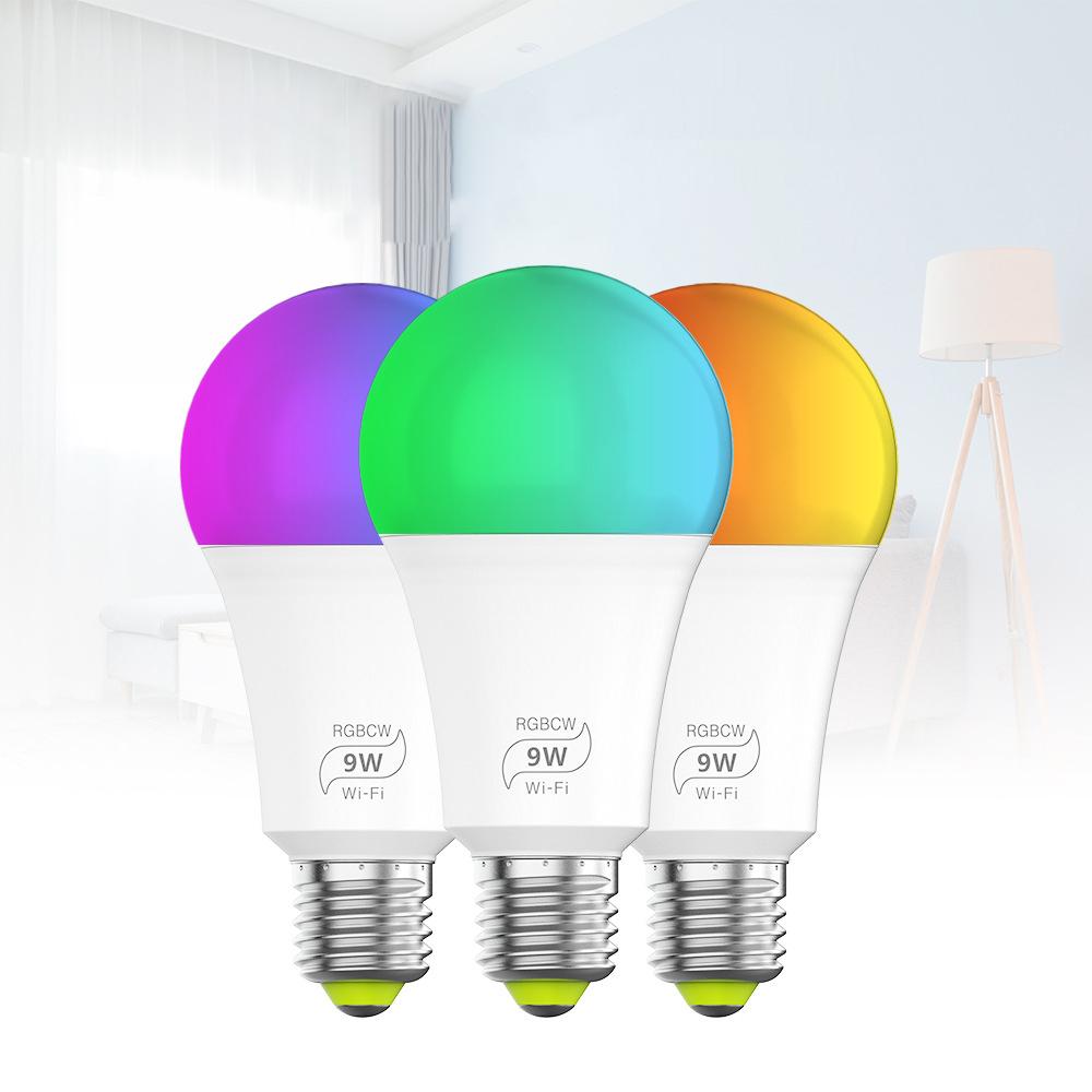 9W E27 Wifi Smart LED  Lights for Smart  Home