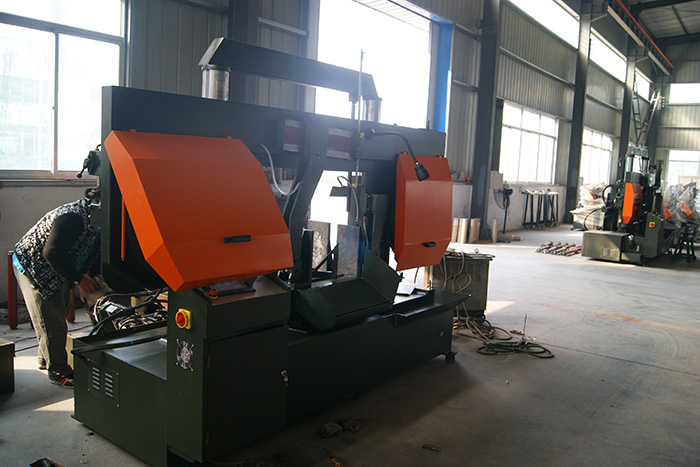 double column automatic cnc band saw machine for metal