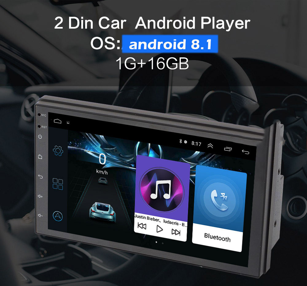 Universal 7 Inch Android 8.1 Car DVD Player with GPS navigation