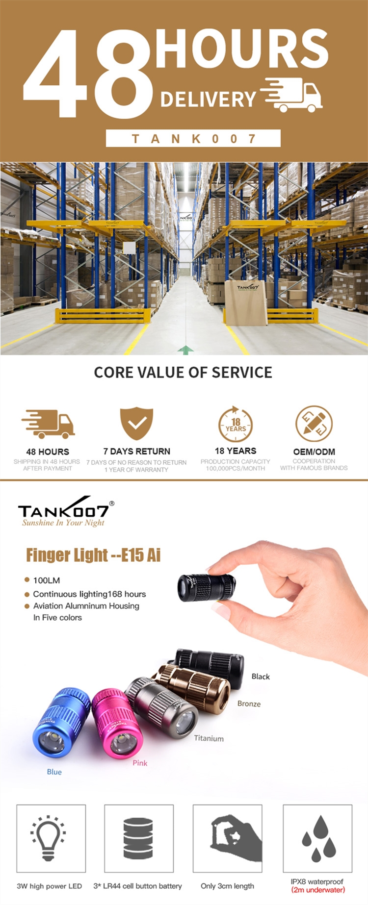 Tank007 kids christmas gifts LED torch promotional gift small fleshlight waterproof flash light mini keychain flashlight
