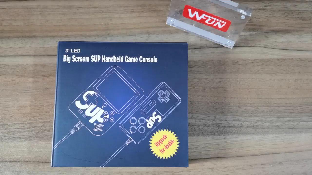 כף יד מיני SUP וידאו משחק קונסולות תיבת 400 ב 1 משחקי ילד עם כפול נגן
