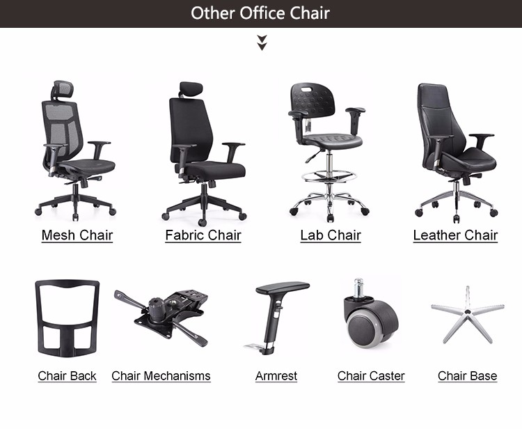 High end black mesh mid back ergonomic visitor office chair