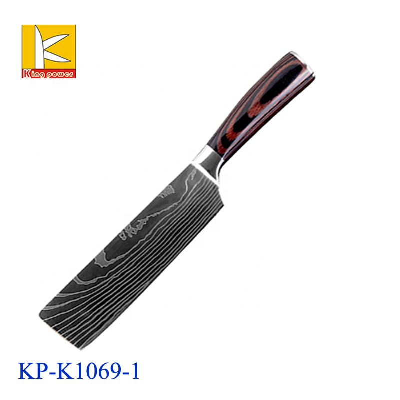 Kitchen Knives Set Japanese Stainless Steel Chef Slicing Santoku Tool Laser Pattern 8pcs Damascus Steel Knife