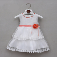 baby girls dress designs Summer Fashion Toddler Kids pink Baby Girls lace Sleeveless Clothes Party Dress