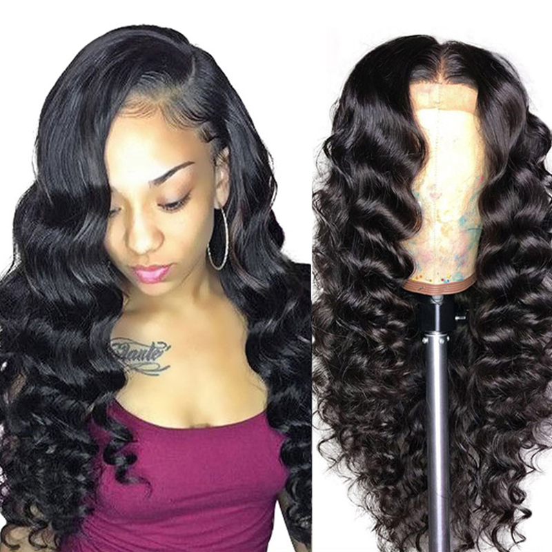 Vast Best Vendor Grade 10A 8-28Inch Loose Deep Wave Raw Virgin Brazilian Unprocessed Human Hair Wigs Full Lace Human Hair Wigs