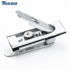 outdoor picnic table steel cabinet telecom cabinet swing handle door lock pull up lift up swing plane lock