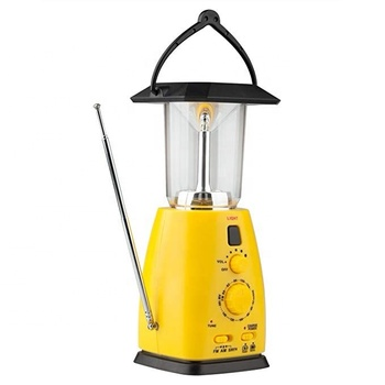 2019 New Arrivals Power Solar Rechargeable Led Camping Lantern with FM MW SW radio power bank For Outdoor, Hiking, Tent