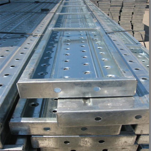 Construction Metal scaffold open Steel Plank 225x38 with hook