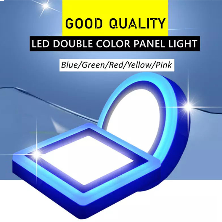New design 6W 9W 16W 24W double color led panel light IP20