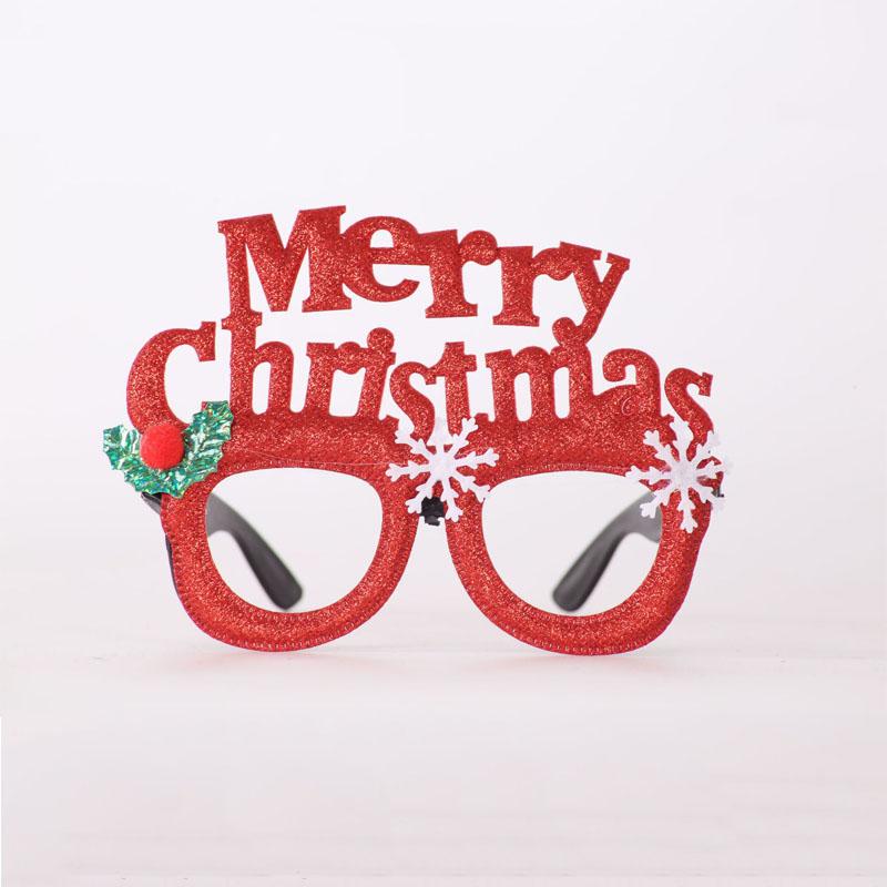 1 шт. рождественские украшения для взрослых, Детские праздничные игрушки, Санта-снеговик, очки с рогами, украшения для фестиваля(Китай)