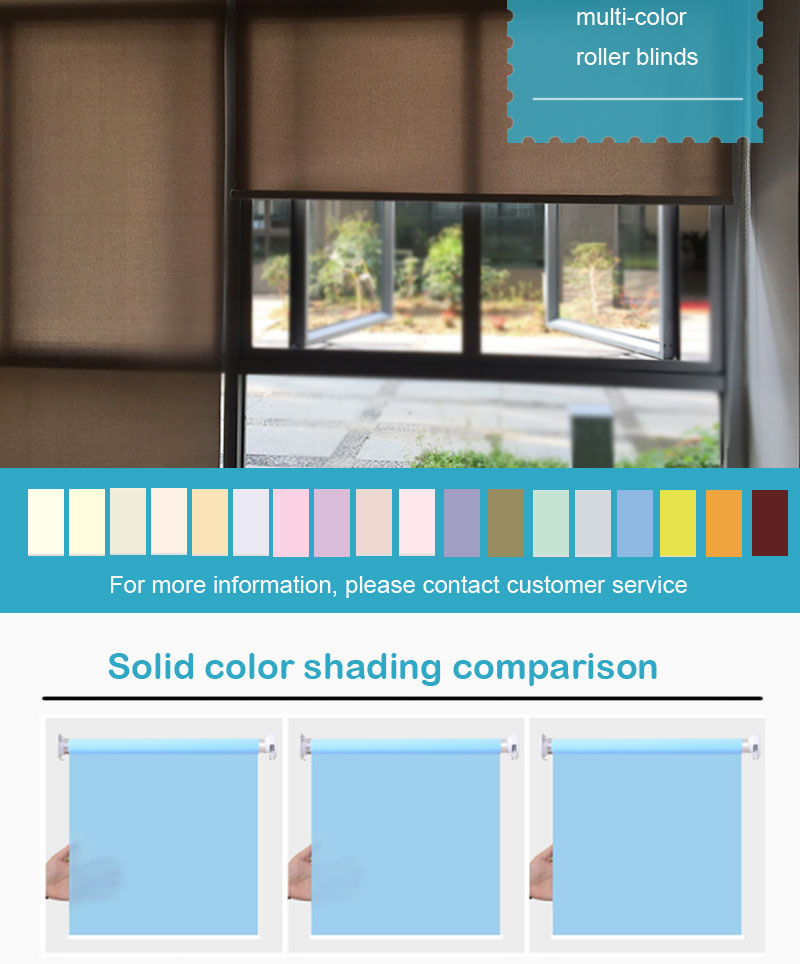 Easy cleaning roller blind sunscreen fabric roller blinds for windows