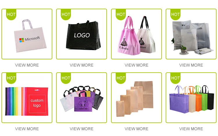 Customized Logo Clothing Store Bag Biodegradable Drawstring Plastic Shopping Bag