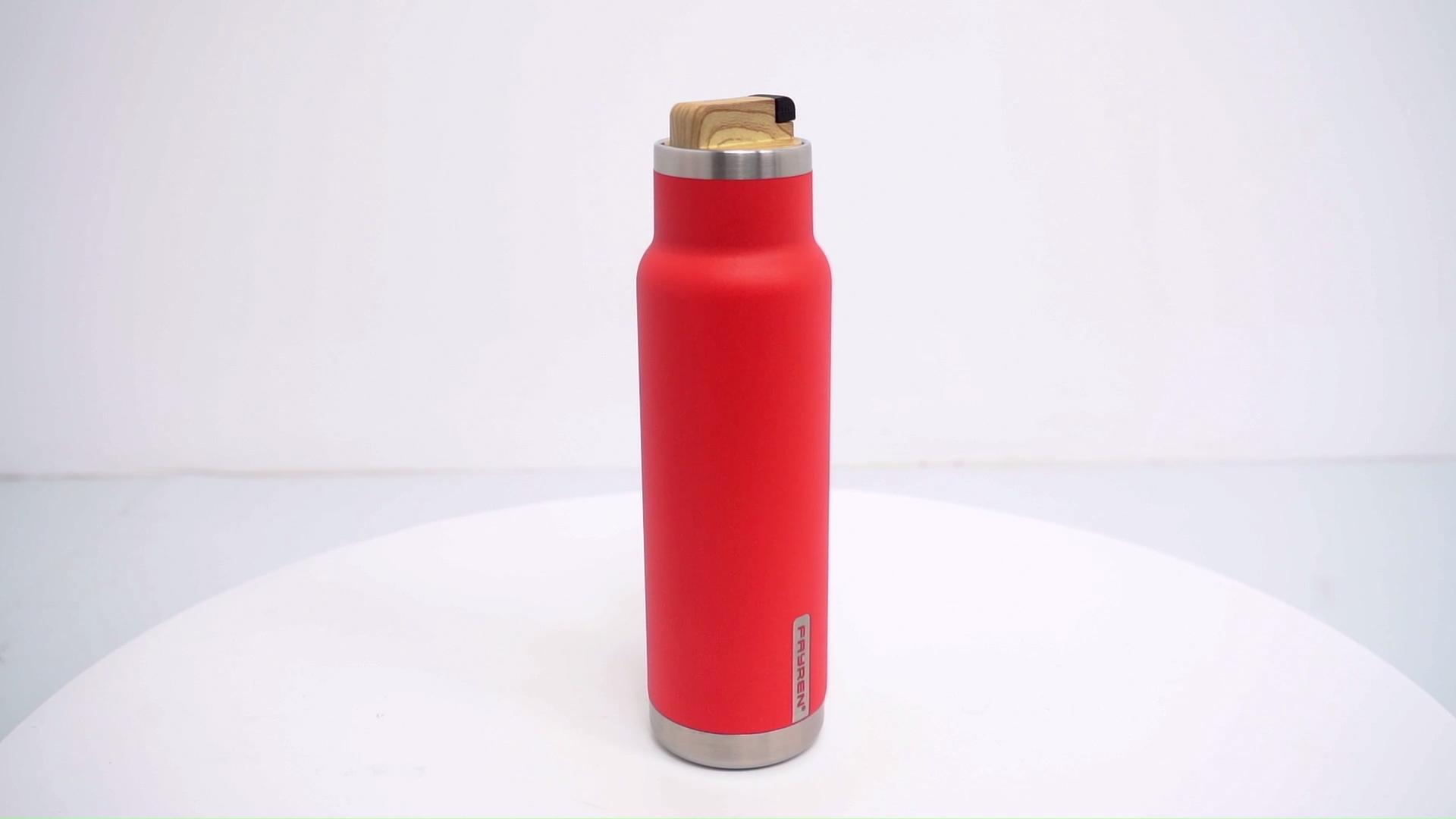 Bottiglia di acqua In Acciaio Inox Vuoto Isolato Thermos Bocca Larga-Coperchio A Tenuta-BPA Libero con A Prova di Perdite Coperchio