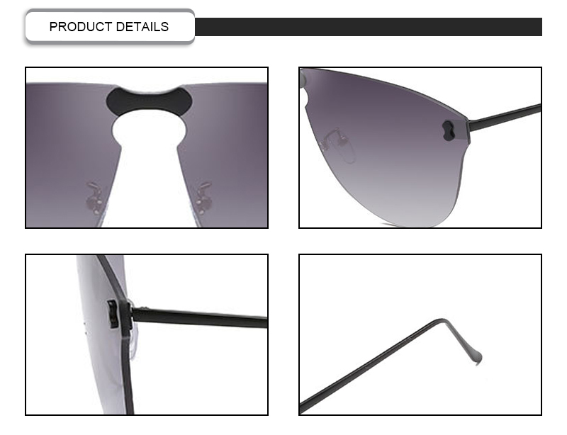Comtomized Logo Fashion Dubery  Rimless Cat3 UV400 Women Men Sunglasses