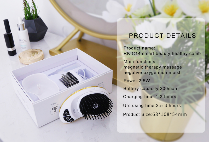 Smart and healthy comb for head message and care