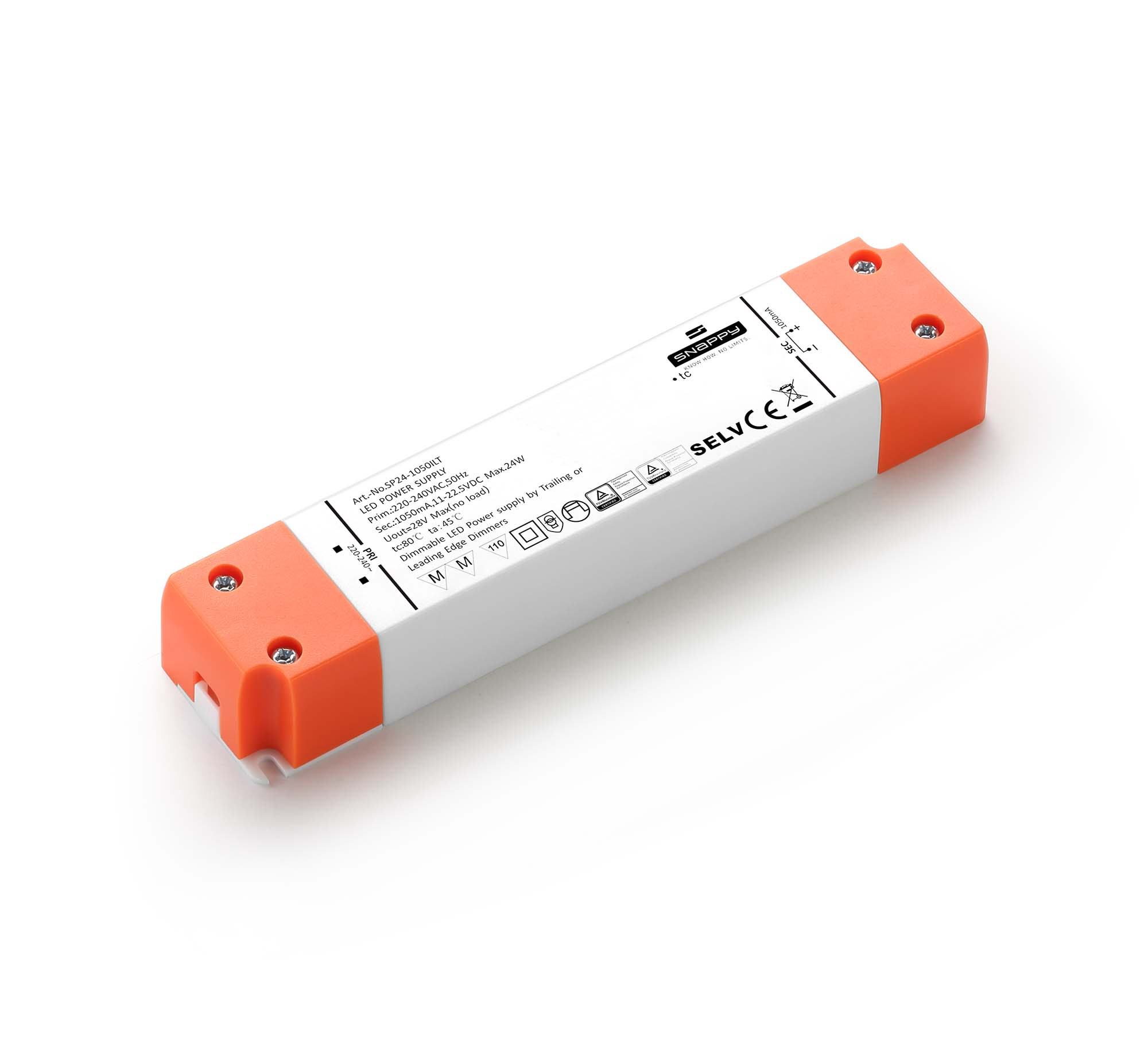 SP24-ILT  Input198-264VAC 24W 350/500/700/1050mA IP20 constant current Triac dimmable LED Driver LED Power supply