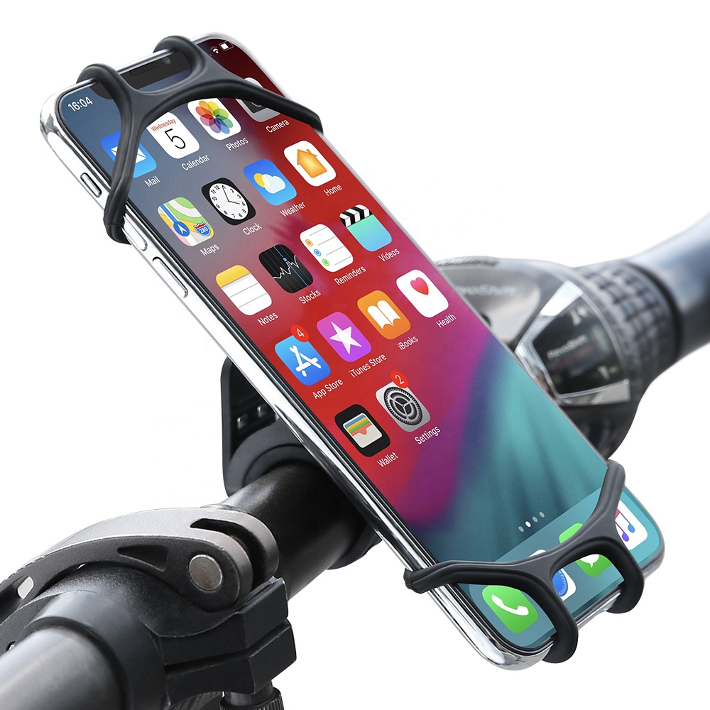 Home Purple and car. Flexible Cell Phone Holder Mount Premium Flexible Silicone That Bends in Any Direction You Choose Great for Bike