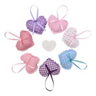 Eco-friendly Fragrance With Lavender /rose/ocean Scented Sachet With Hanger Eco Friendly Small Mini Heart Shaped Wardrobe Travel Fragrance Lavender Scent Home Deocative Clothes Scented Sachet With Hanger