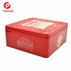 Square Tin Cookie Biscuit Cake Box Can