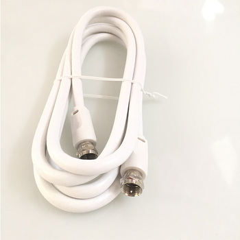 1.8meter RG6U RF coaxial cable F to F plug cable 75OHM