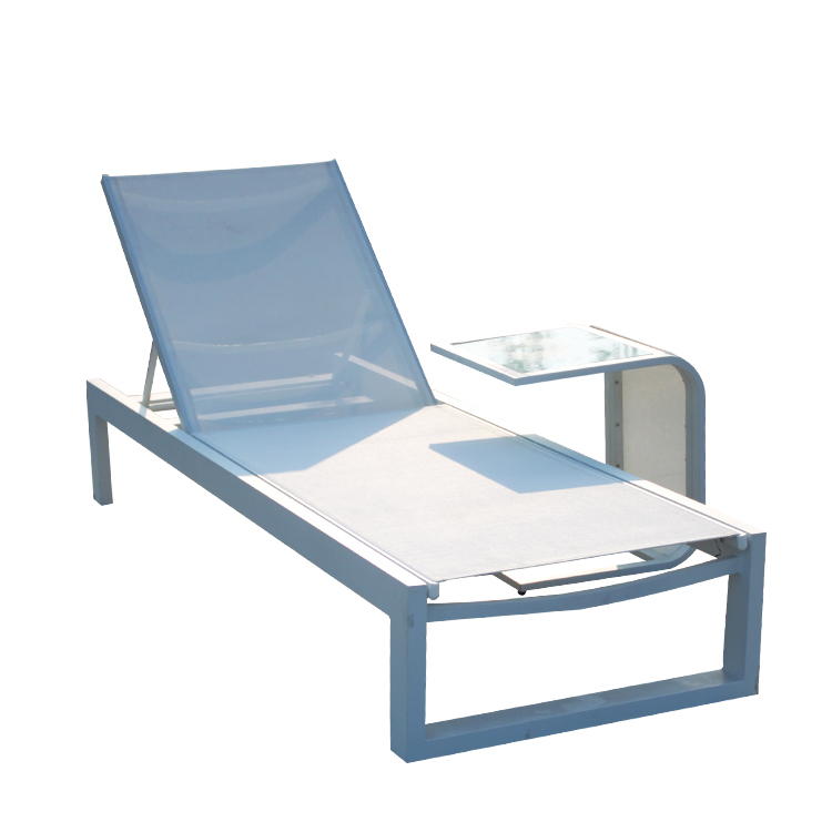White Chaise Lounge Chair Outdoor Deck