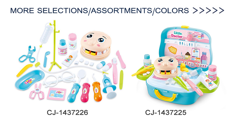 Cheap pretend play set mini children medical plastic dentist toys doctor sets