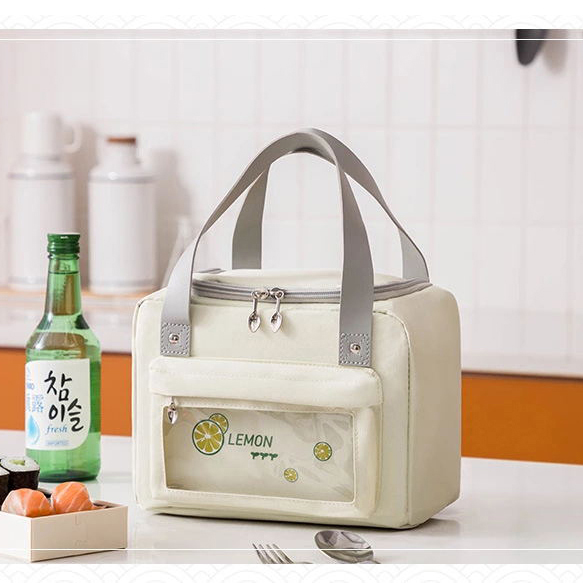 product-GF bags-Unisex Lunch Bag Insulated Lunch Box Large Drinks Cooler Holder Durable Nylon Therma