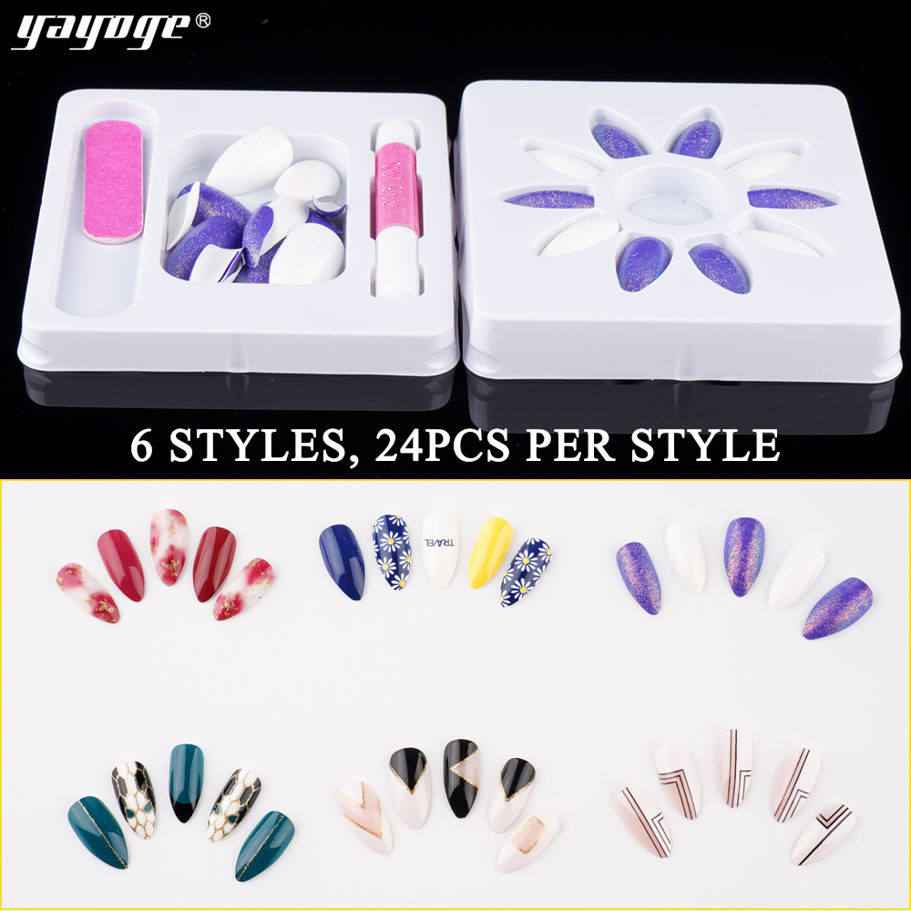 2019 wholesale fashion 3D Nail Art Stickers & Decals for metal decal nail patch False Fake Artificial Nail