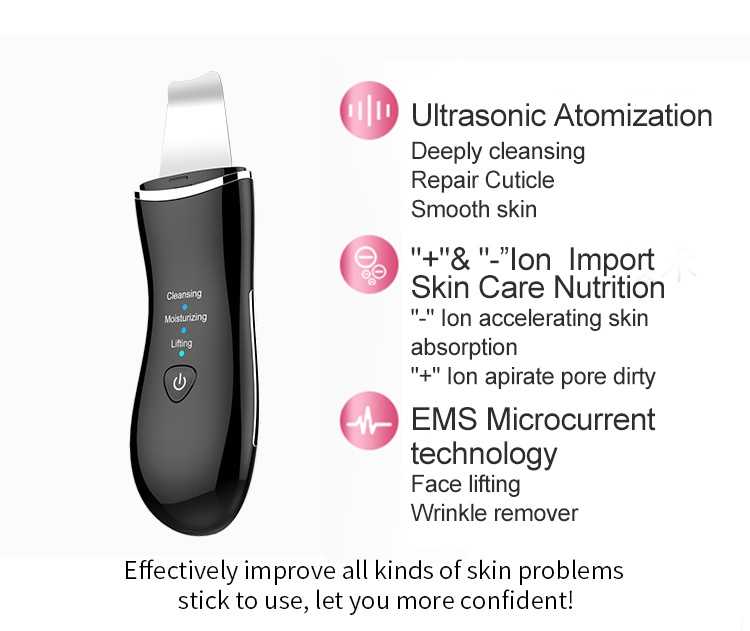 Best selling wholesale price professional skin spatula ultrasonic skin scrubber facial spatula