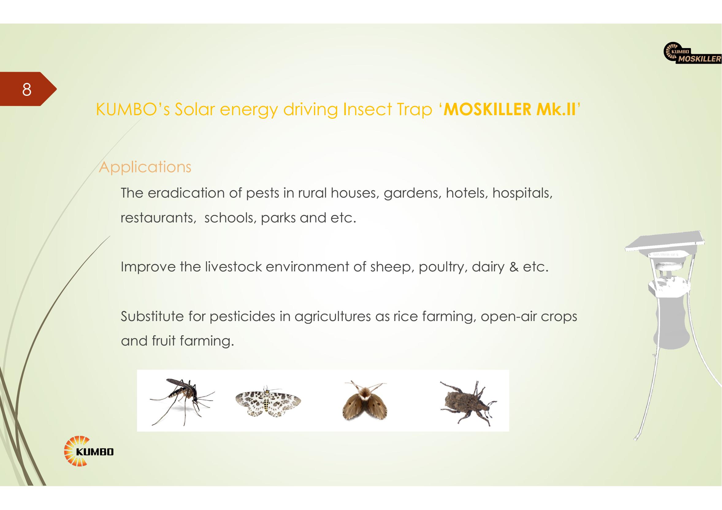 โรงงาน Direct พลังงานแสงอาทิตย์ Kill Bug ยุง Killer โคมไฟแมลงดักสำหรับการเกษตรแมลง