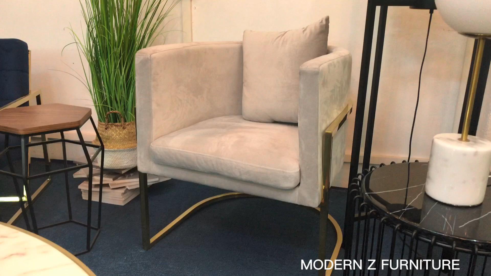 سعر المصنع الفولاذ المقاوم للصدأ الحديث الذهب مسند الأزرق المخملية منجد كرسي الطعام كرسي