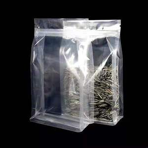 Transparent eight side sealed pocket self standing packaging bag for Dry fruits and coarse cereals/ziplock