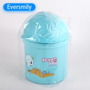 Personalizado Colorido De Plástico Mini tamanho pequeno lixo pode caixote do lixo plástico pode na rodada