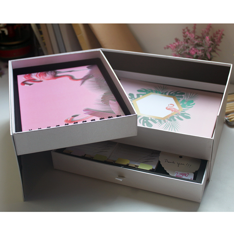 product-Drawer Box Paper Cardboard Lid Custom Clothing Boxes With Logo-Dezheng-img-2