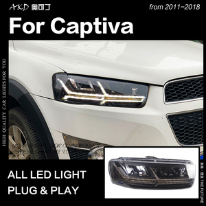 AKD Car Styling Head Lamp for Chevrolet Captiva Headlights 2011-2018 Captiva LED Headlight LED high beam low beam dynamic signal