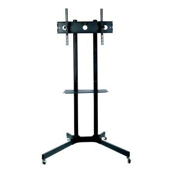 Professional Manufacturer Office Accessories TV Mobile Cart Floor Stand Trolly Wheels Moving Tv Cart with DVD Shelf