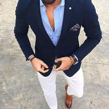 2020 блейзер для мужчин, приталенный мужской свадебный смокинг, дешевый новейший пиджак, белые брюки, костюм для мужчин, костюм для выпускного...(Китай)