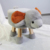 2020 ottoman Cute Animal  kids stool with Wood Foots