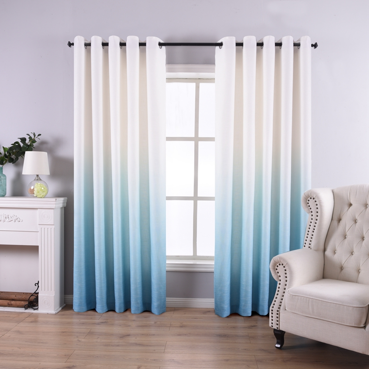 2021 New design bedroom window knitted elegant polyester gradient <strong>curtains</strong>