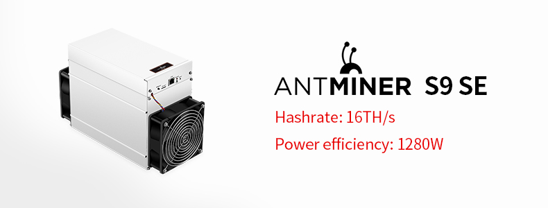 Exceedingly profitable SHA-256 1350W 16Th antminer s9se miner