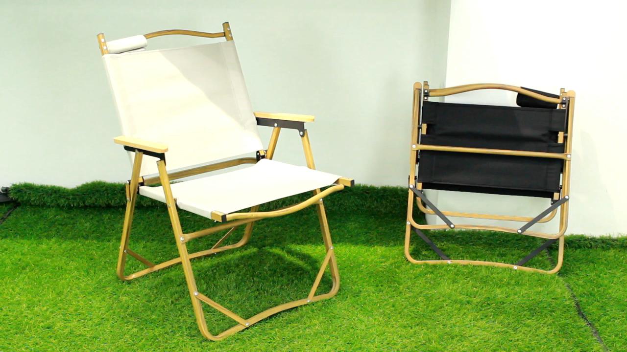 Tianye Custom Outdoor Wood Grain Metal Frame Folding Wholesale Beach Camp Chair Foldable